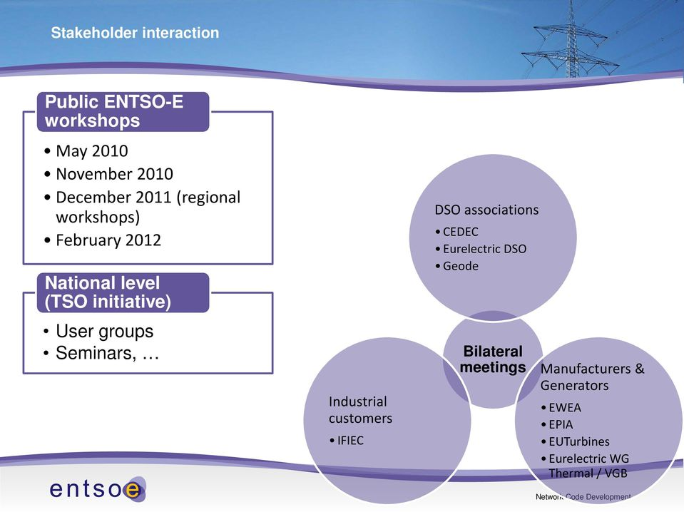 Seminars, Industrial customers IFIEC DSO associations CEDEC Eurelectric DSO Geode