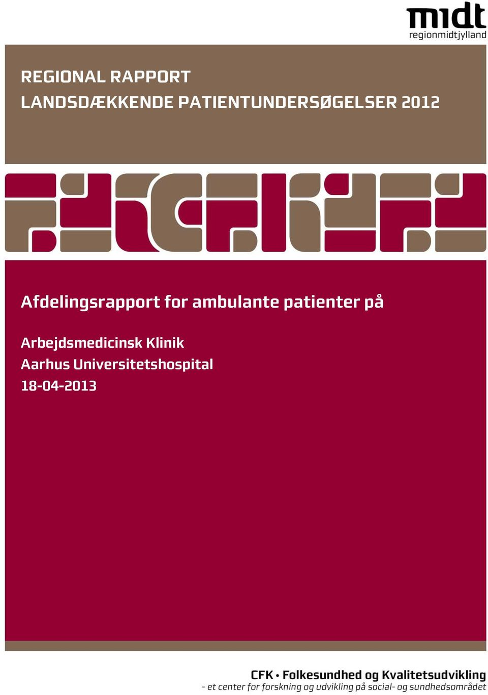 Afdelingsrapport for ambulante patienter