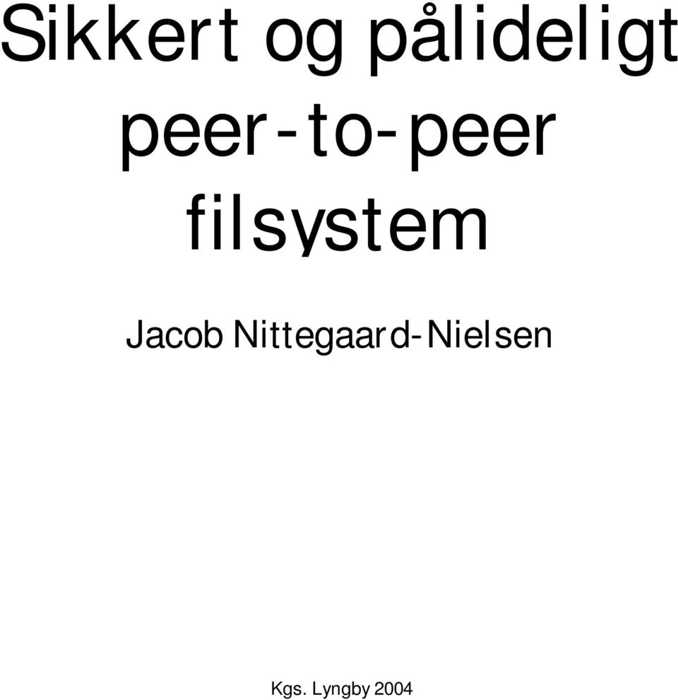 filsystem Jacob
