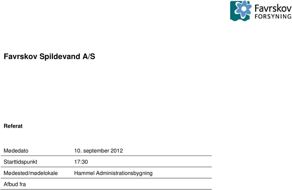 september 2012 Starttidspunkt