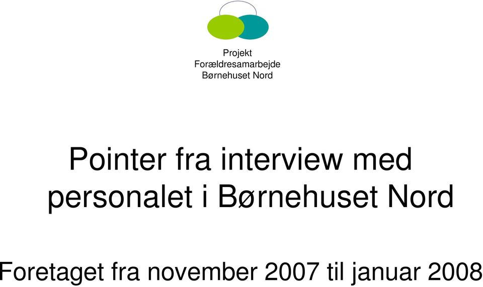 interview med personalet i