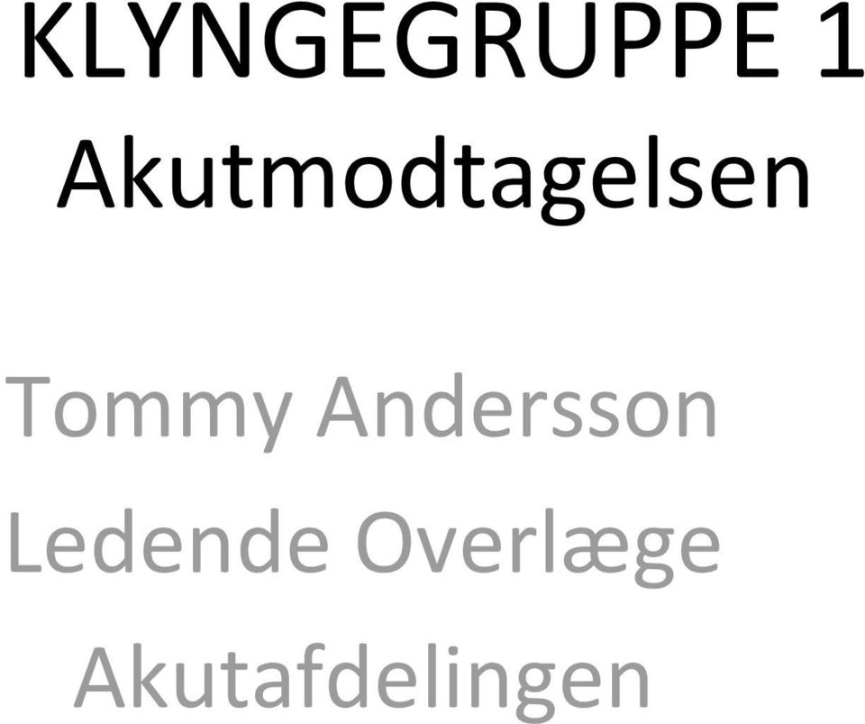 Tommy Andersson