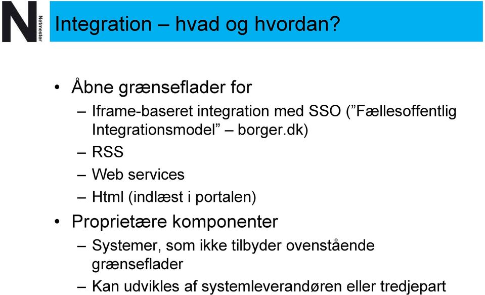 Integrationsmodel borger.