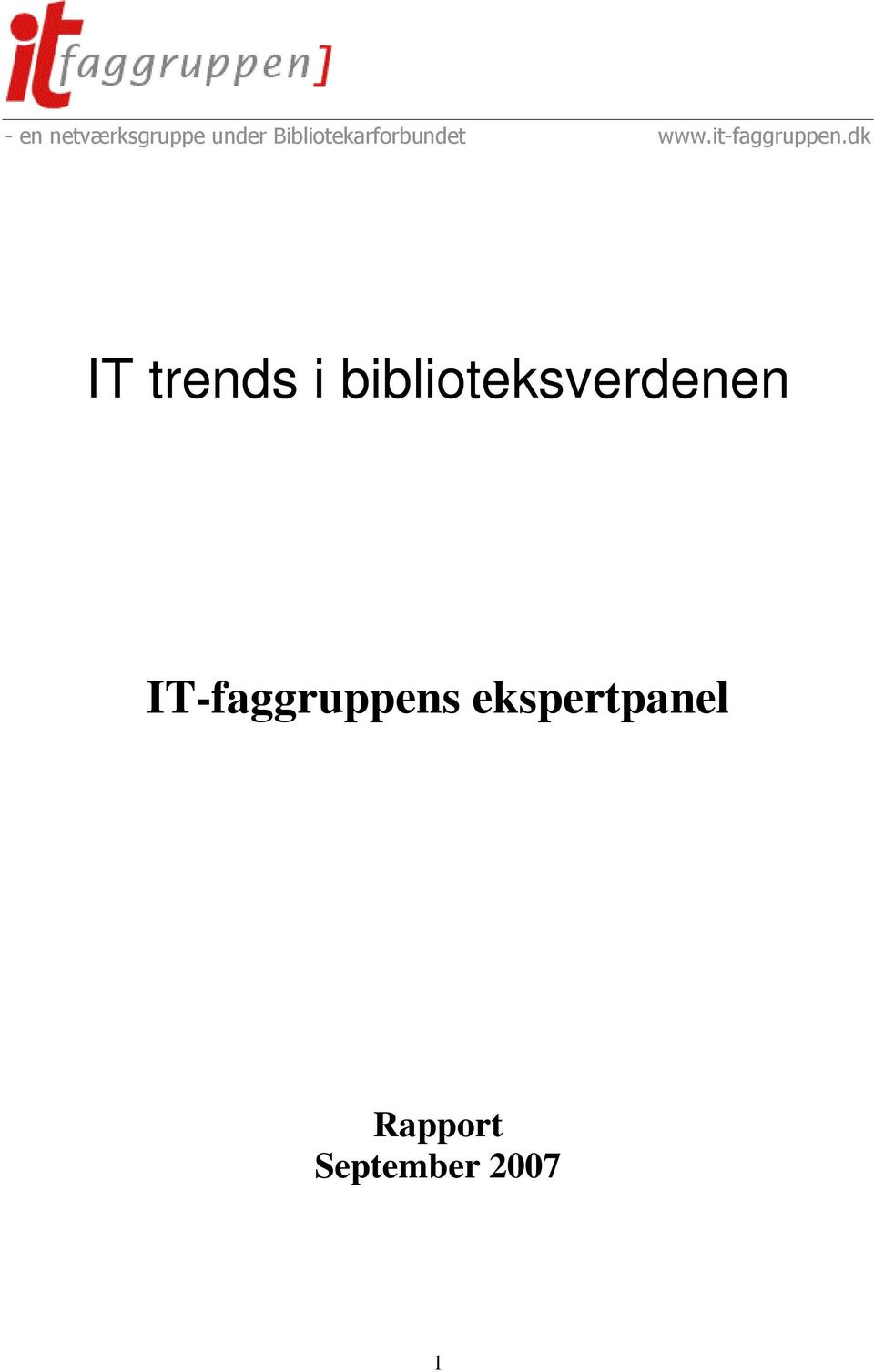 IT-faggruppens