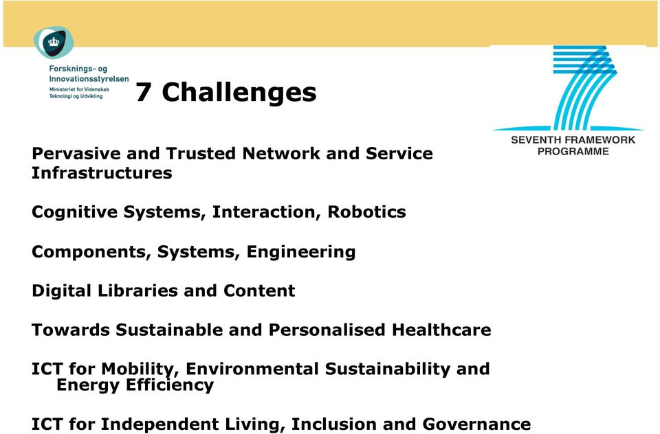 Content Towards Sustainable and Personalised Healthcare ICT for Mobility,