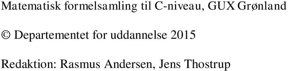 Deprtemetet for uddelse 05