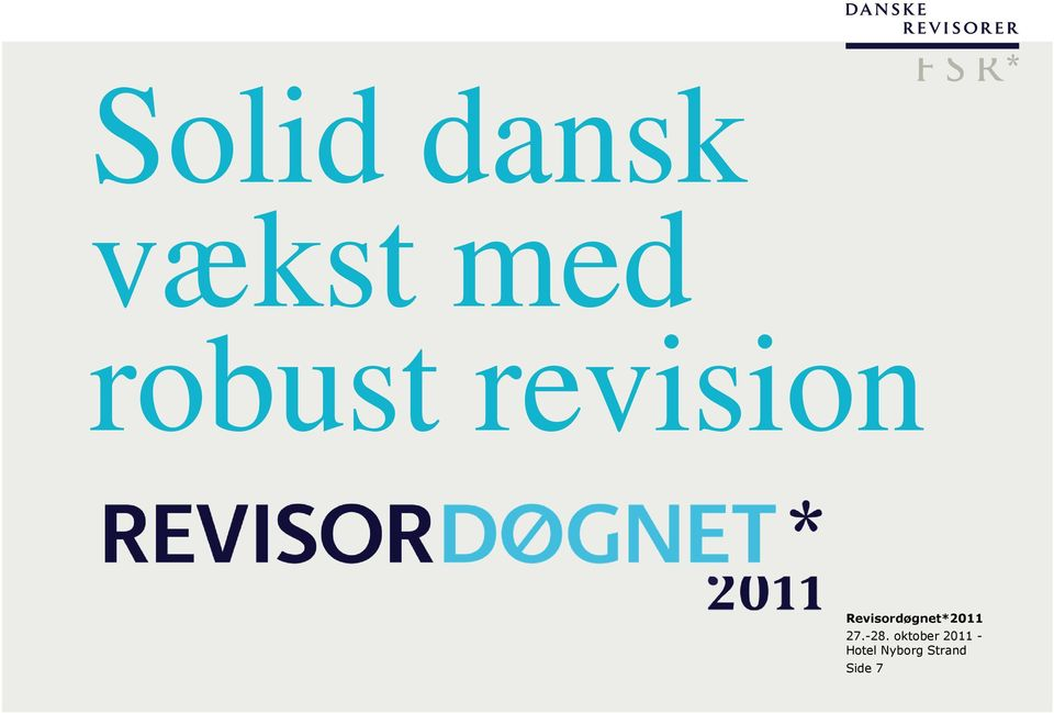 Revisordøgnet*2011 27.-28.