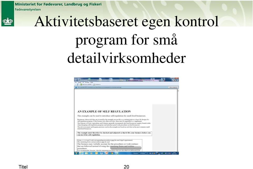 program for små