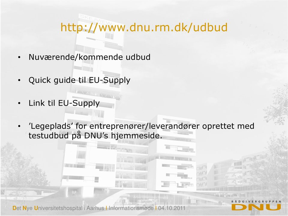 til EU-Supply Link til EU-Supply Legeplads