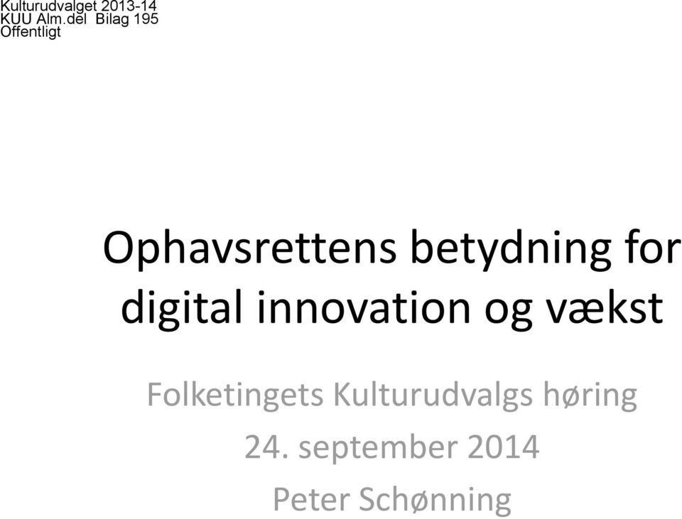 betydning for digital innovation og vækst