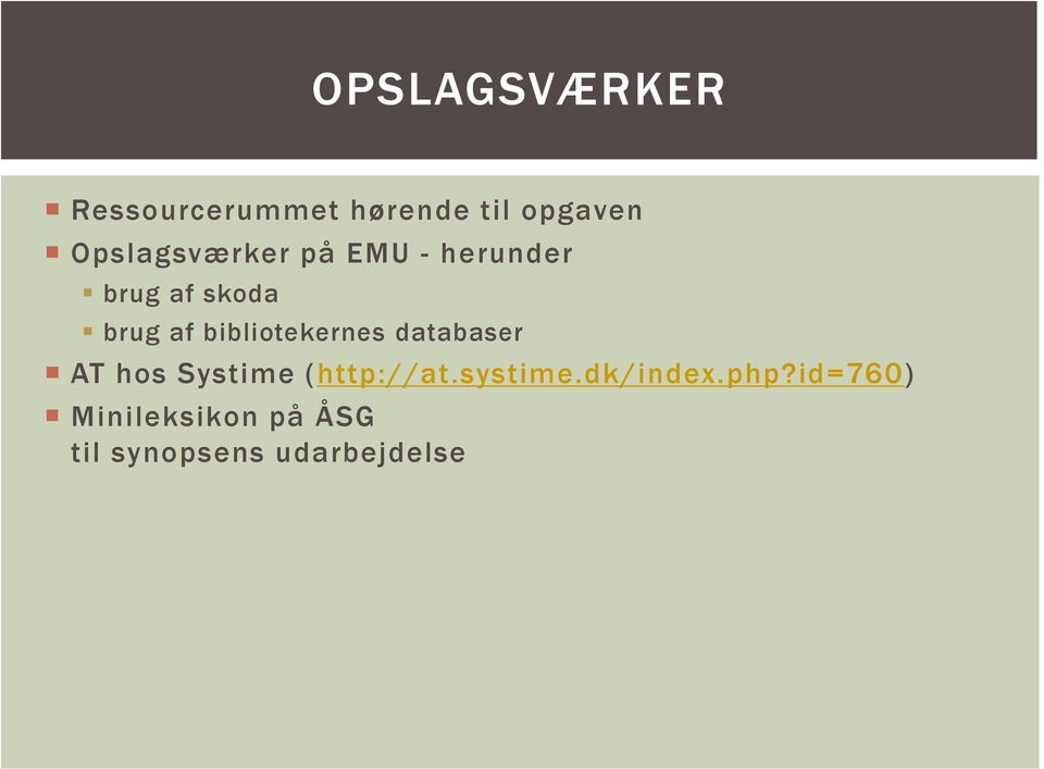 bibliotekernes databaser AT hos Systime (http://at.