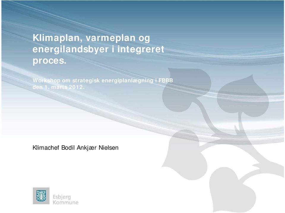 Workshop om strategisk