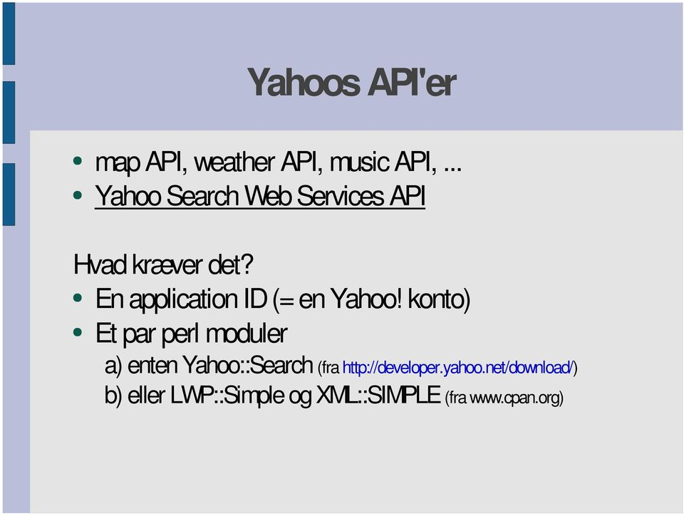 En application ID (= en Yahoo!