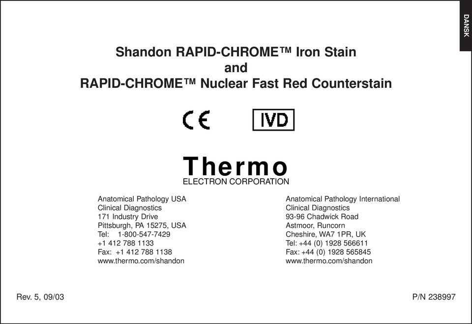 +1 412 788 1138 www.thermo.