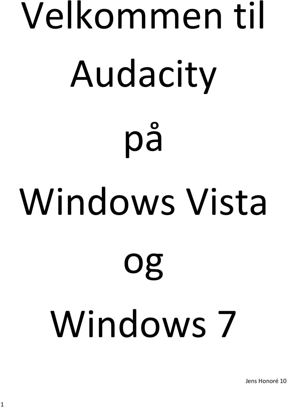 Windows Vista og