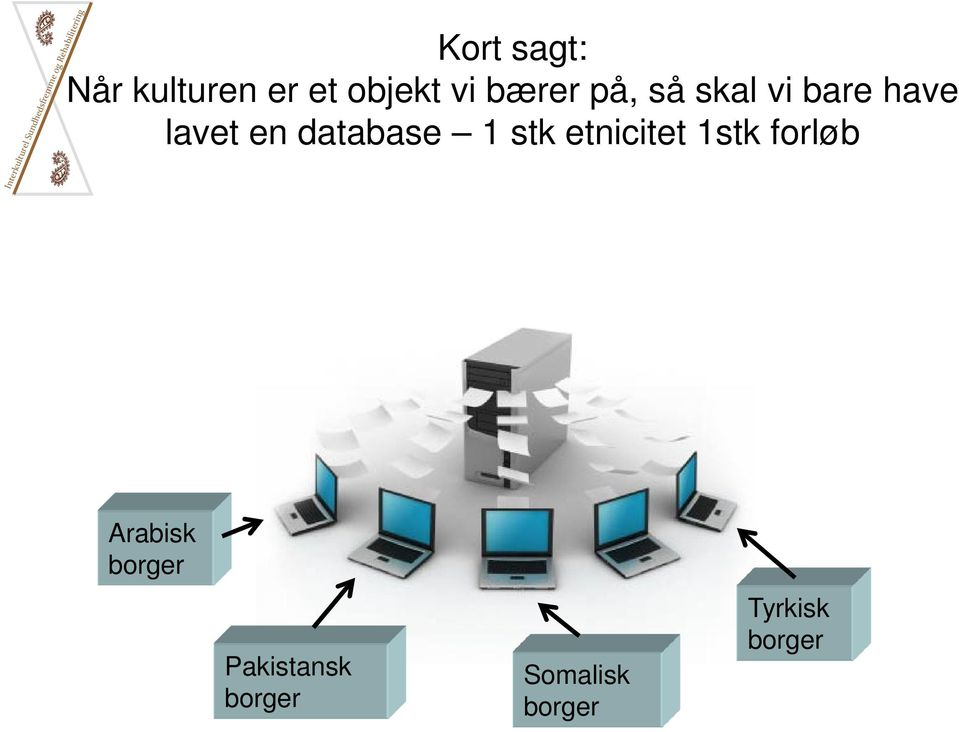 database 1 stk etnicitet 1stk forløb Arabisk