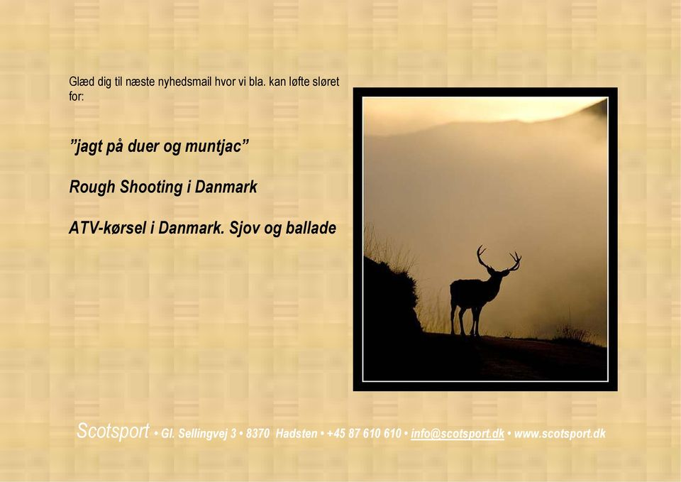 duer og muntjac Rough Shooting i