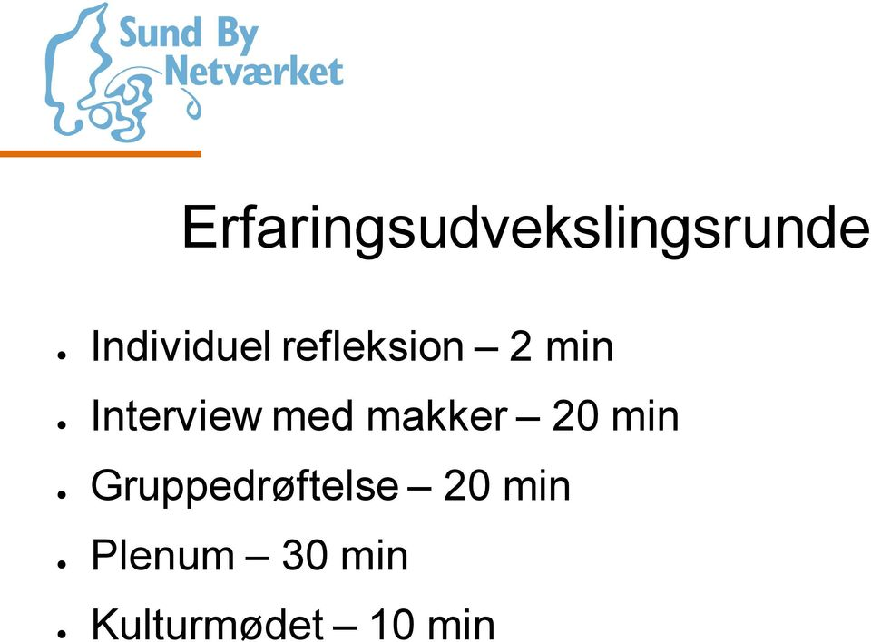 Interview med makker 20 min