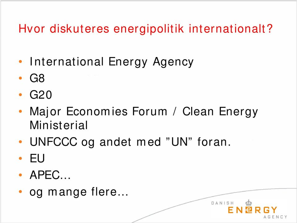 Economies Forum / Clean Energy Ministerial