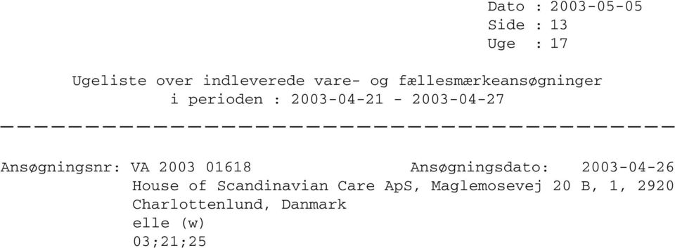 Scandinavian Care ApS, Maglemosevej 20