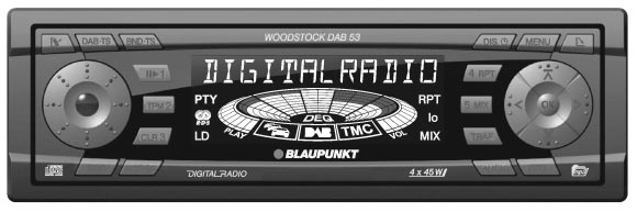 DAB-Radio / CD / MP3 / MMC/SD Woodstock DAB