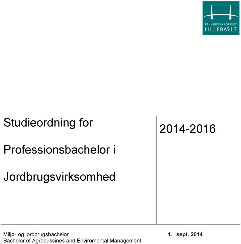 jordbrugsbachelor Bachelor of