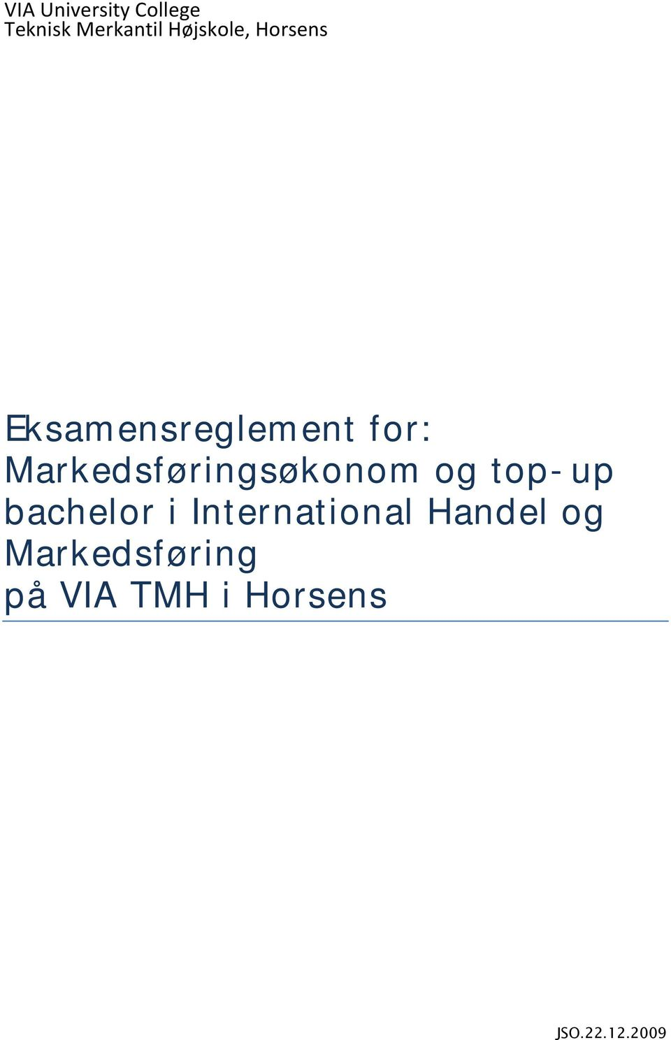 bachelor i International Handel og