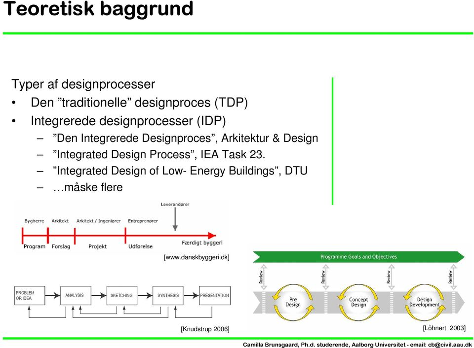 Arkitektur & Design Integrated Design Process, IEA Task 23.