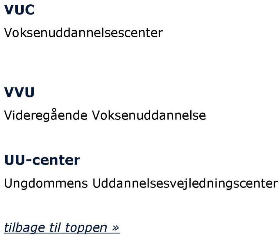 Voksenuddannelse UU-center