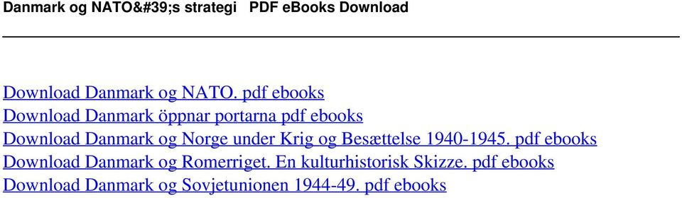 pdf ebooks Download Danmark öppnar portarna pdf ebooks Download Danmark og Norge under