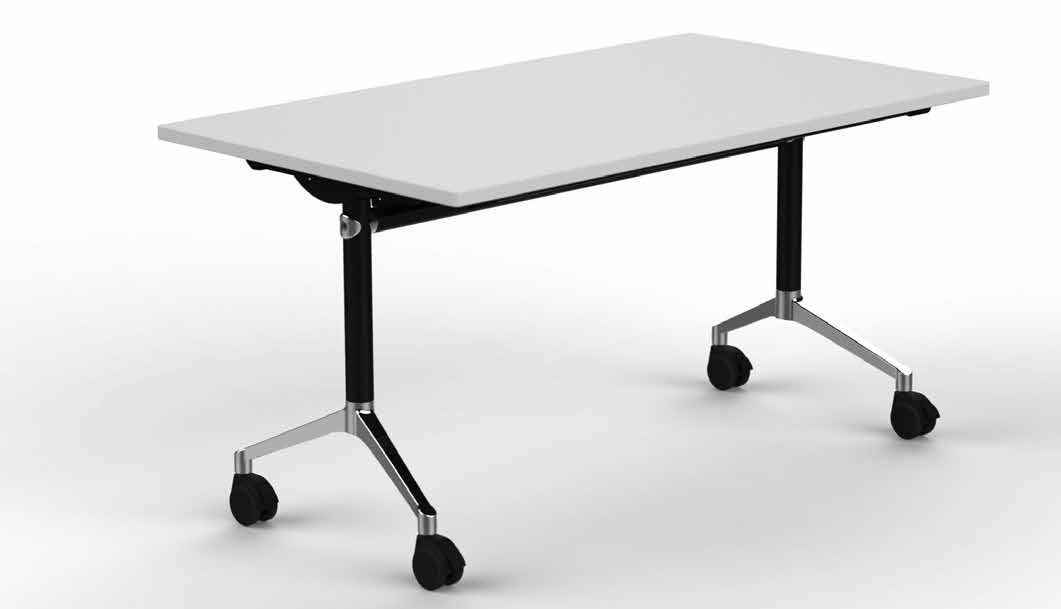 FLIP TOP FLIP TOP Meeting, Canteen & Education FLIP TOP Borde i dybde 70 og 80 cm leveres standard i grå RAL 9006 eller sort Varenr.