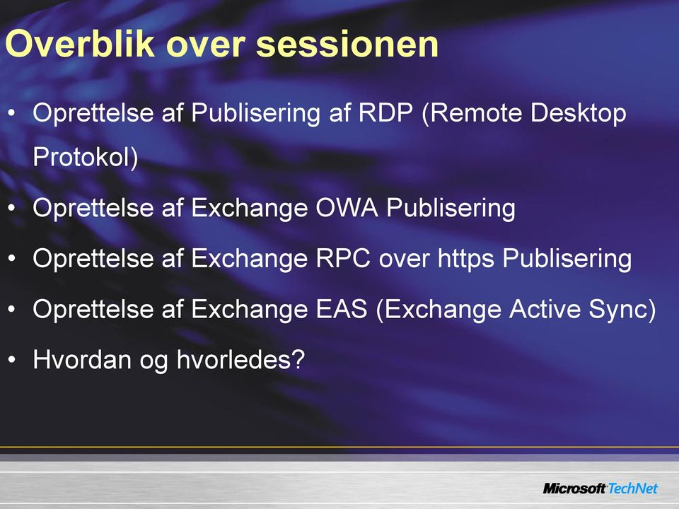 Publisering Oprettelse af Exchange RPC over https