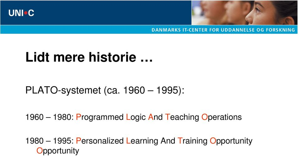 And Teaching Operations 1980 1995:
