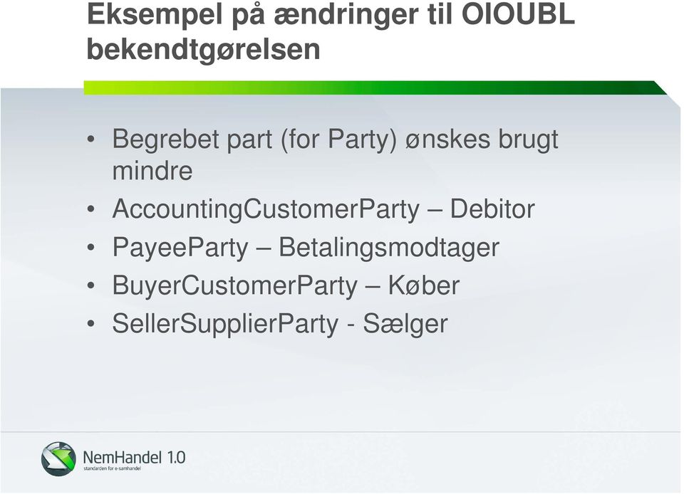 AccountingCustomerParty Debitor PayeeParty