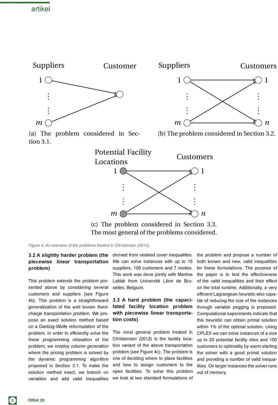 2 A slightly harder problem (the piecewise linear transportation problem) This problem extends the problem presented above by considering several customers and suppliers (see Figure 4b).
