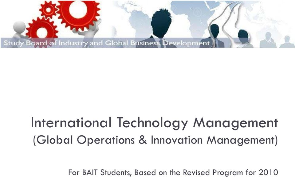 Innovation Management) For BAIT