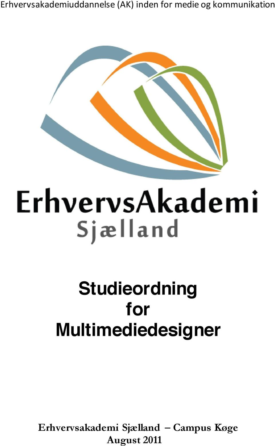Studieordning for Multimediedesigner
