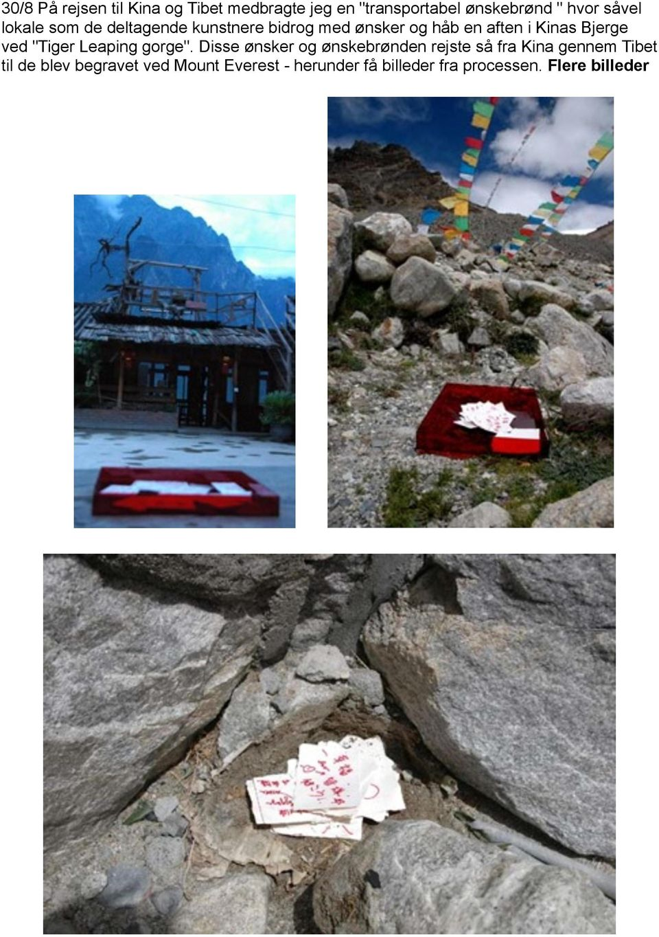 "Bjerge ved ""Tiger Leaping gorge""."