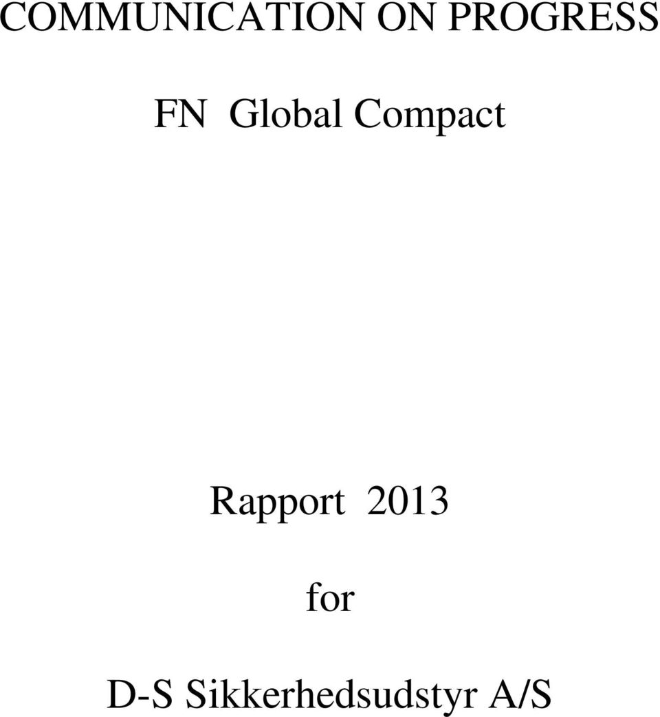 Compact Rapport 2013