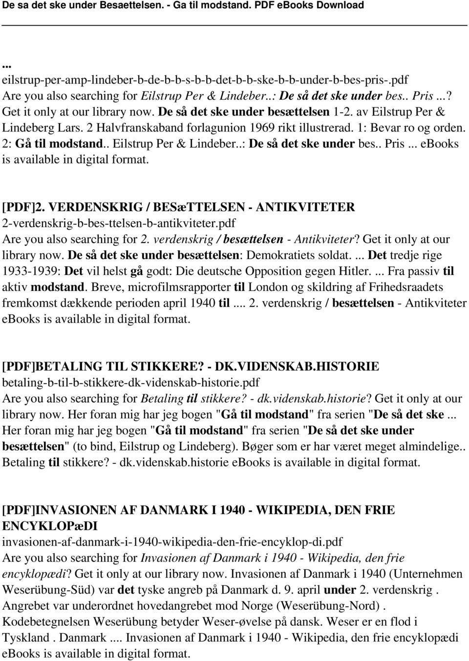 . Pris... ebooks is available in digital format. [PDF]2. VERDENSKRIG / BESæTTELSEN - ANTIKVITETER 2-verdenskrig-b-bes-ttelsen-b-antikviteter.pdf Are you also searching for 2.