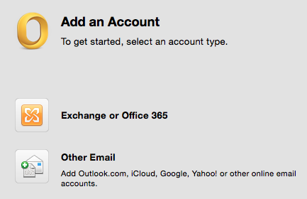8 Nu skal du tilføje din mail igen. Det gør du ved at vælge Exchange or Office 365. E-mail address. Her skal du indtaste din primærmail. Method skal sta pa User Name and Password.