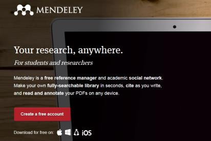 Download Mendeley Installer programmet Mendeley fra : http://www.mendeley.