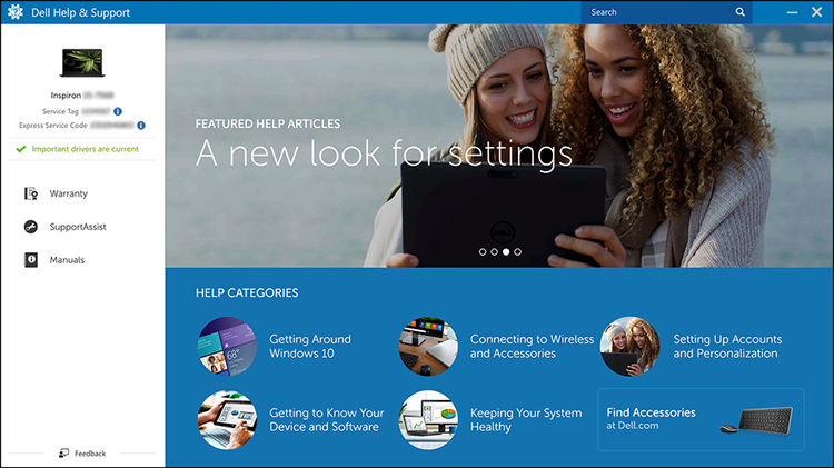 Find Dell-apps