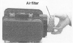6. Air filter AIR FILTER Please inspect and clean the air filter on a regular basis.