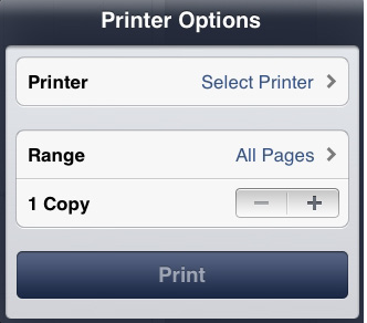 tilslut printer til iphone