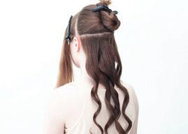 3 4 5 Create a similar parting and repeat the method all the way up the rear portion of the hair.