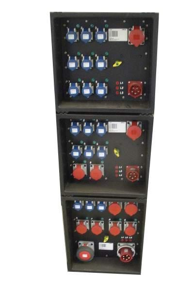 32A 2x16A CEE, 6x230V CEE 8 stk 57113 PDU 32A camping 9x230V CEE med 6A for sikring 8 stk 57114 PDU 32A