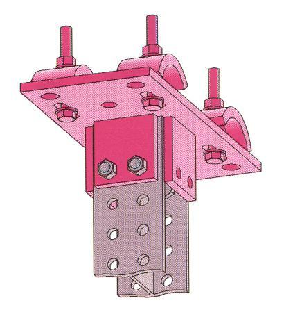 z 18,50 cm 3 Weight 11,0 kg/m Plate for clamp connection to existing beam, hot-dip galvanized Finish: beam clamps premounted, without screws Dimensions (mm) Connection section