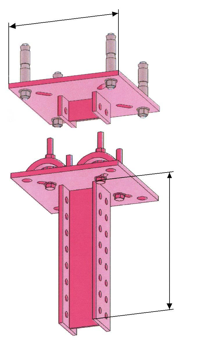 Special components Supporting stand for clamp/plug connection Conn.