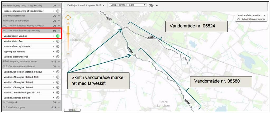 VANDOMRÅDE EU guidance no2: Each water body should be identified on the basis of its
